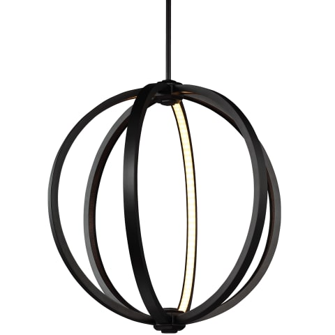 "Khloe 20"" LED Globe Pendant Oil Rubbed Bronze"