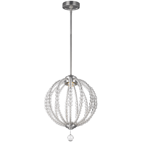 Oberlin 1 - Light Pendant Satin Nickel Bulbs Inc