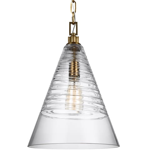 Elmore Cone Pendant Burnished Brass