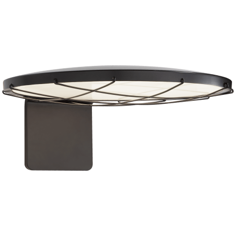"Dot 13"" Caged Wall Light in Matte Black"