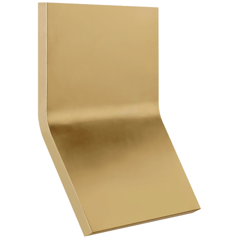 Bend Large Square Light in Natural Brass