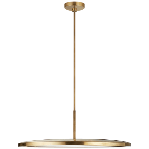 "Dot 22"" Pendant in Natural Brass"
