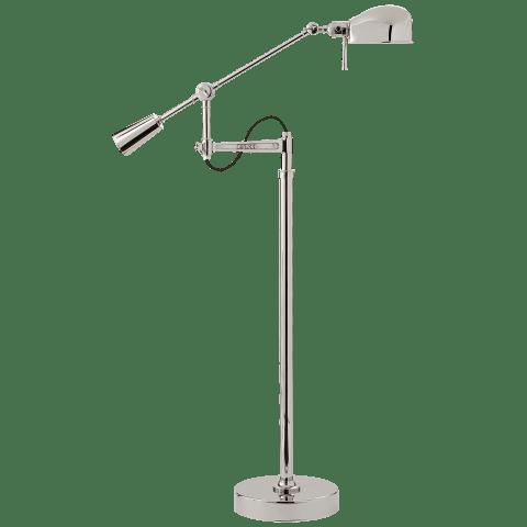 RL '67 Boom Arm Floor Lamp in Polished Nickel