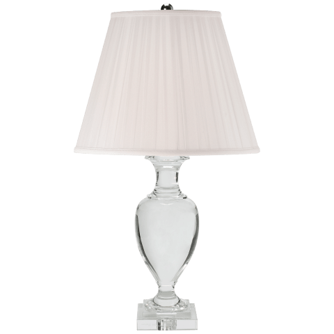Noble Estate Large Vase Table Lamp in Crystal with Silk Shade