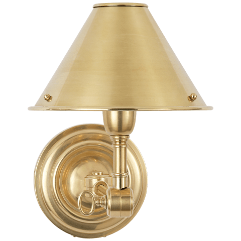 Anette Single Sconce in Natural Brass