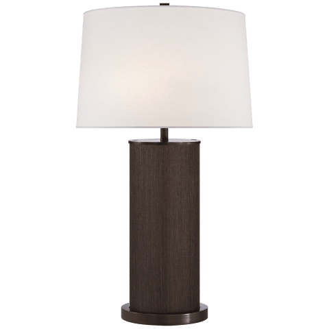 Beckfod XL Table Lamp in Bronze with Linen Shade