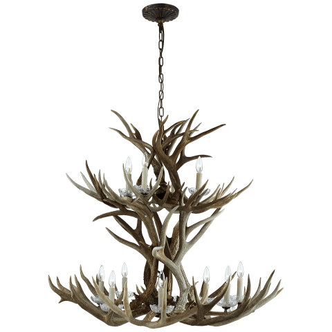 Straton Double Tier Chandelier in Natural Bone