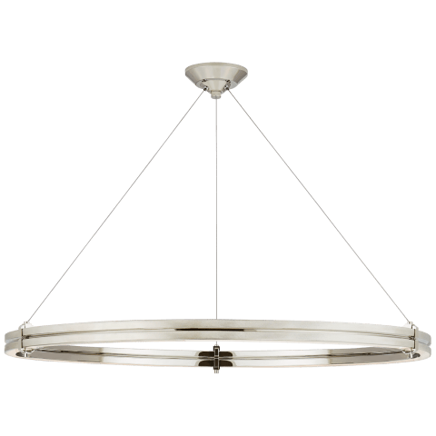 "Paxton 40"" Ring Chandelier in Polished Nickel"