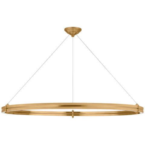 """Paxton 48"""" Ring Chandelier in Natural Brass"""