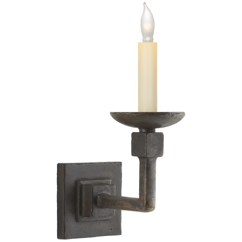Kassel Single Sconce in Natural Iron