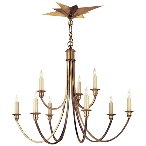 Venetian Medium Two-Tier in Hand-Rubbed Antique Brass