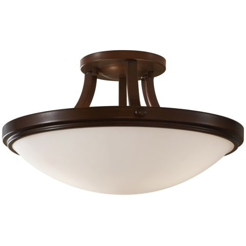 Perry 2 - Light Indoor Semi-Flush Mount Heritage Bronze
