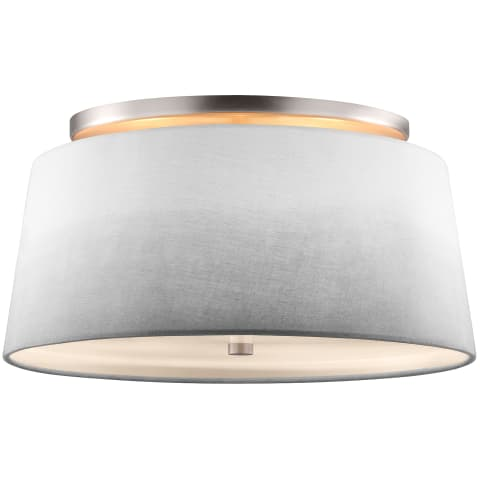 Tori Semi-Flush Mount Satin Nickel