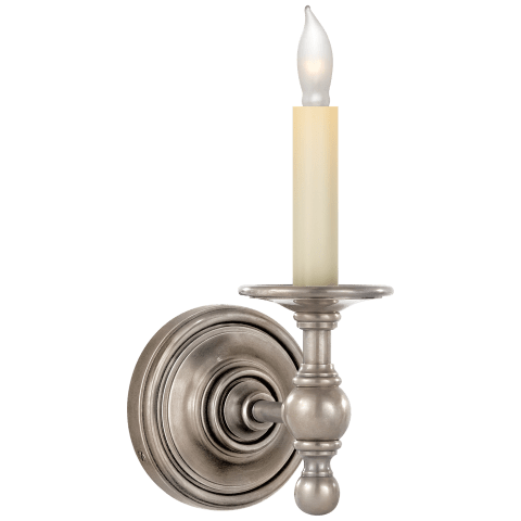Classic Single Sconce in Antique Nickel