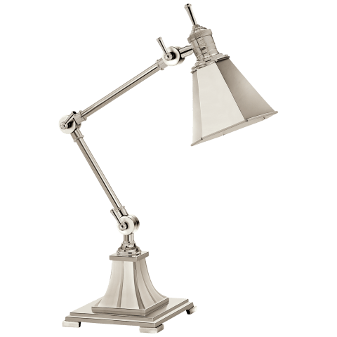 Mini Architect's Table Lamp in Polished Silver