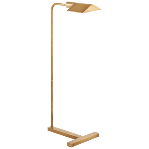 William Pharmacy Floor Lamp in Hand-Rubbed Antique Brass