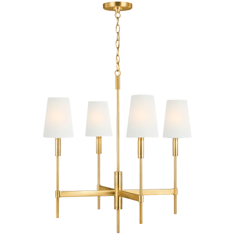 Beckham Classic Medium Chandelier Burnished Brass