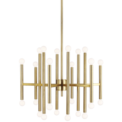 Beckham Modern Large Chandelier Burnished Brass