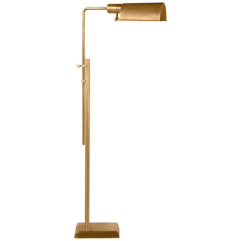 Pask Pharmacy Floor Lamp in Hand-Rubbed Antique Brass