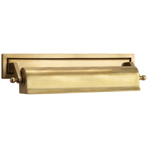 "Library 16"" Picture Light in Hand-Rubbed Antique Brass"