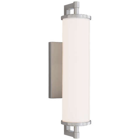 "Landis 17.5"" Bath Light in Polished Nickel with White Glass"