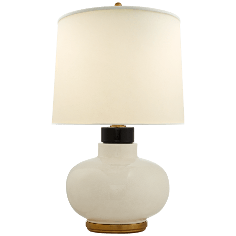 Chantal Table Lamp in Tea Stain with Natural Percale Shade