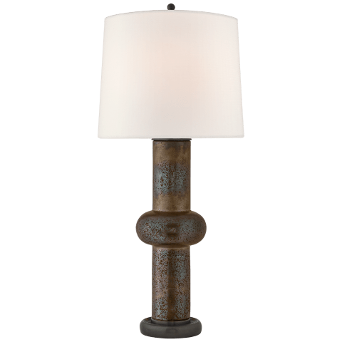 Bibi Large Table Lamp in Crystal Bronze with Linen shade
