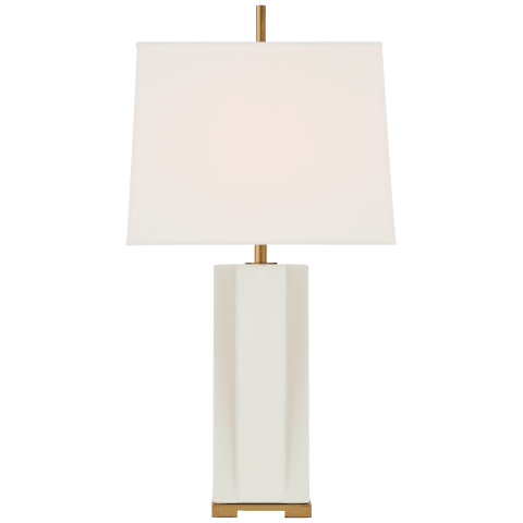 Niki Medium Table Lamp in Ivory with Linen Shade