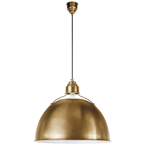 Eugene Large Pendant in Hand-Rubbed Antique Brass