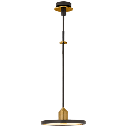 Valen Medium Pendant in Bronze and Brass