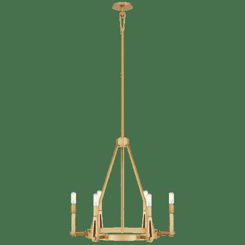Alpha Medium Chandelier in Hand-Rubbed Antique Brass