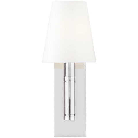 Beckham Classic 1 - Light Wall Sconce Polished Nickel