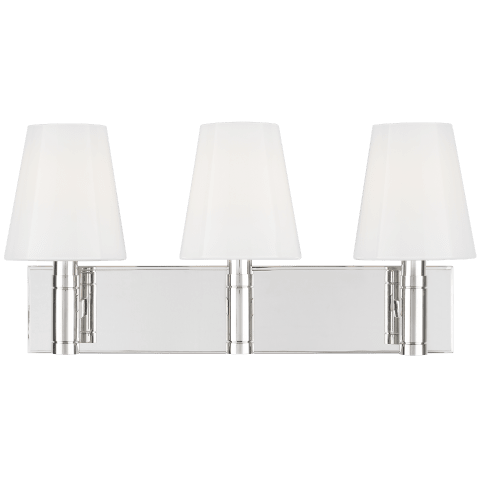 Beckham Classic 3 - Light Vanity Polished Nickel
