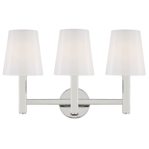 Logan 3 - Light Vanity Polished Nickel