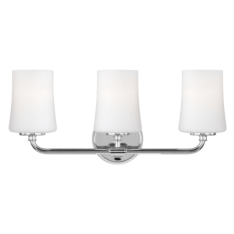 Jennie Three Light Vanity Fixture Chrome Bulbs Inc