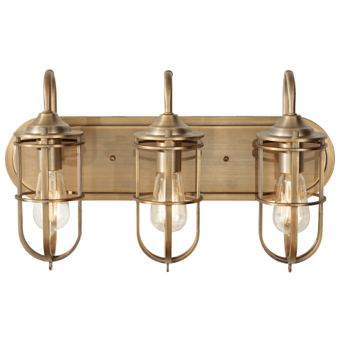 Urban Renewal 3 - Light Vanity Dark Antique Brass