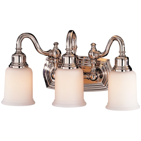 Canterbury 3 - Light Vanity Fixture Polished Nickel