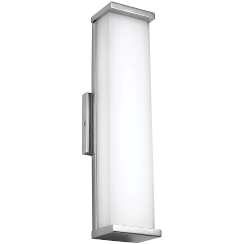 "Altron 18"" Tall Indoor / Outdoor Wall Sconce Polished Stainless Steel Bulbs Inc"