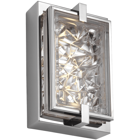 Erin 1 - Light Wall Sconce Polished Stainless Steel