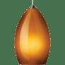 Firefrost Pendant MonoPoint Amber chrome 12 volt halogen (t20)
