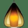 Soleil Pendant Amber antique bronze 12 volt halogen (t20)