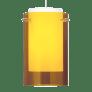 Echo Large Pendant Large Amber satin nickel no lamp