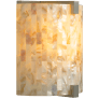 Essex Wall Shell Natural satin nickel 90 CRI led 90 cri 2700k 120v (t24)