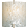 Essex Wall Shell White satin nickel incandescent 120v