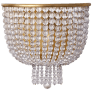 Jacqueline Medium Sconce in Hand-Rubbed Antique Brass with Clear Glass