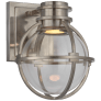 Gracie Single Sconce in Antique Nickel with Clear Glass