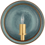 Leeds Small Round Sconce in Oslo Blue