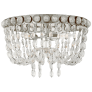 Navona Medium Basket Flush Mount in Burnished Silver Leaf and Crystal