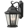 Martinsville 3-Light Outdoor Lantern Black