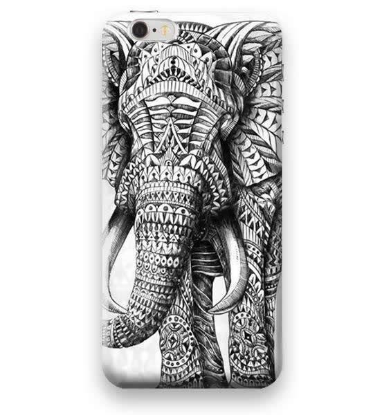 Funda Case Love Elefante iPhone SE / 5 / 5S - Blanco
